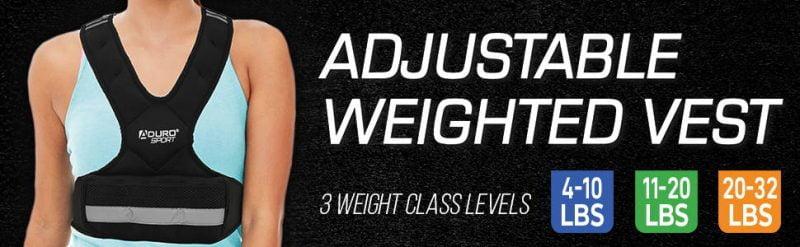 Aduro Sport Adjustable Weighted Fitness Training Vest 1