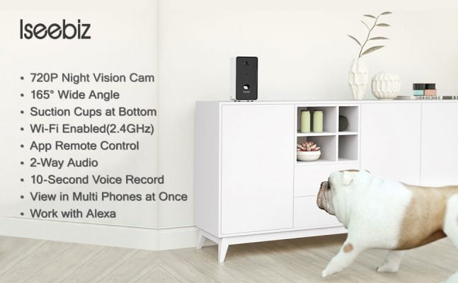 Iseebiz Pet Camera Treat Dispenser