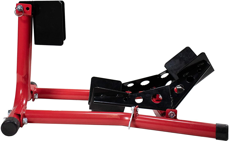 Dragway Tools 1500 lb Fixed Motorcycle Front Wheel Chock 1 1