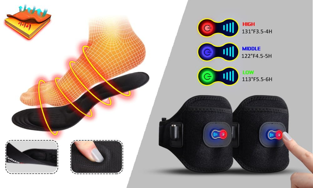 GMAYOO Electric Heated Insoles with Display