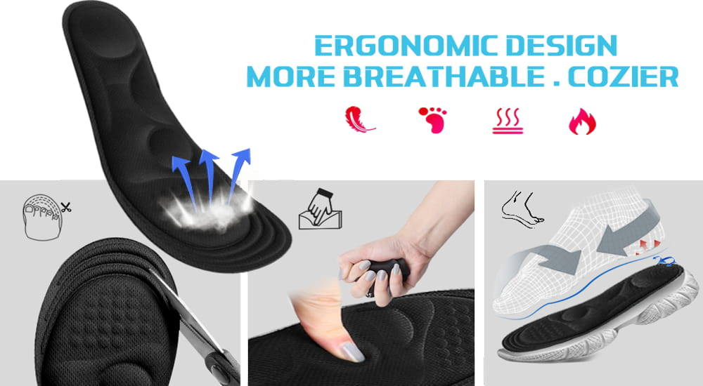 Memory Foam Insoles with Power Display