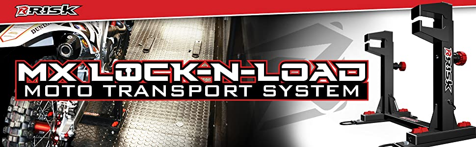 Risk Racing 77 849 Black Lock N Load Strapless Motocross Transport System