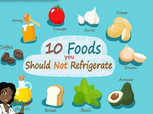 Refrigerators food items