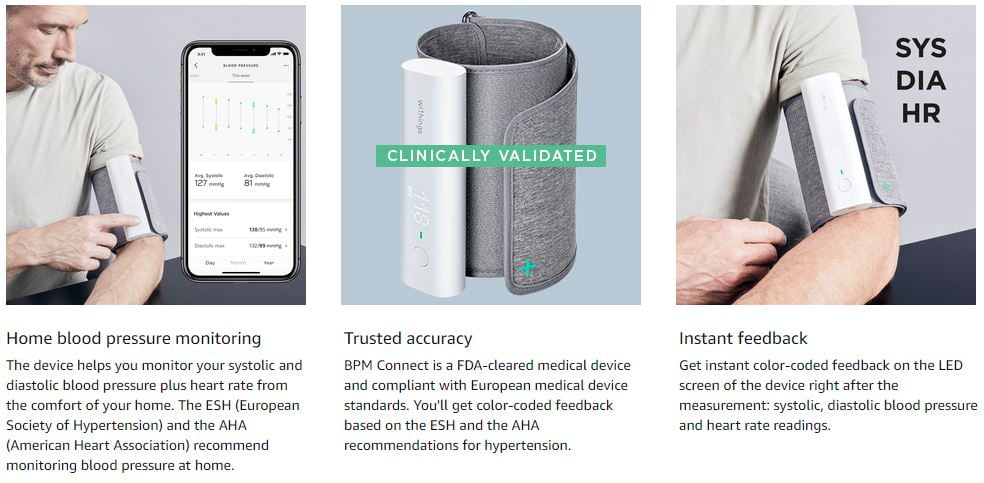 Withings Smart Blood Pressure Monitor