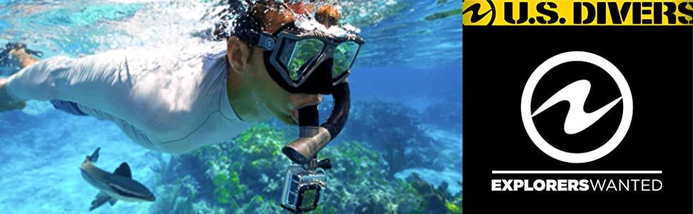 U S Divers Snorkel Set for Women