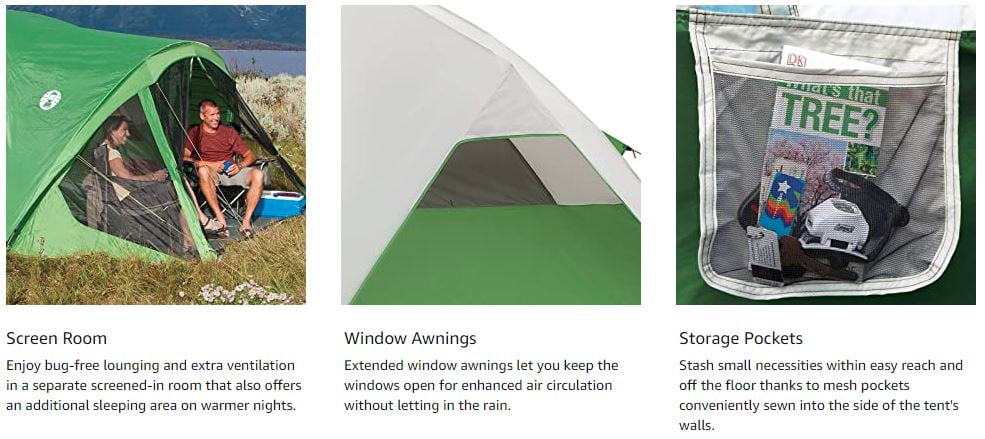6 Person Dome Tent with Screen Room