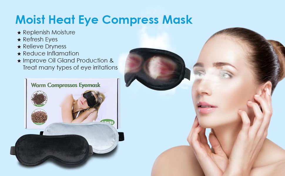 Heated Eye Mask Moist Heat Eye Compress2 Packs Microwave Heated Eye Mask