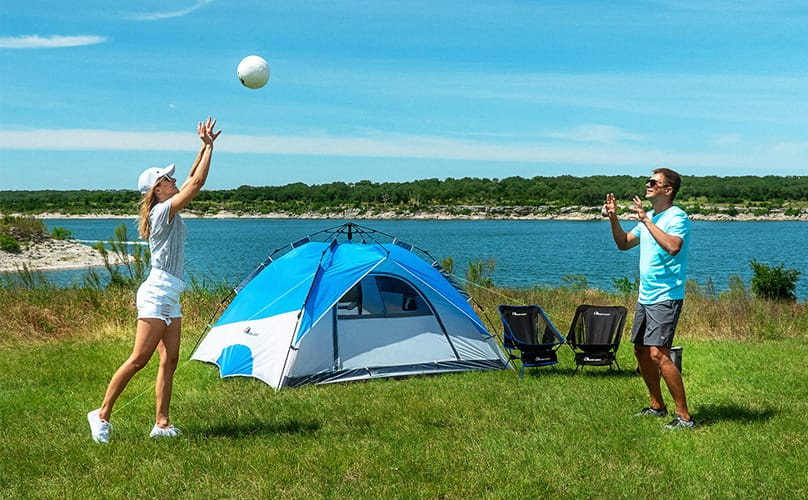 MOON LENCE Pop Up Tent 4 Person Portable Tent