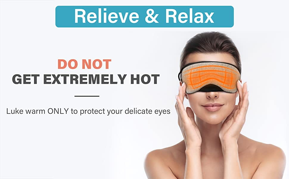 Portable Cold and Hot USB Heated Steam Eye Mask